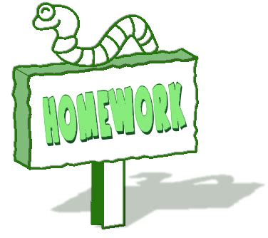 Picture of homework pages